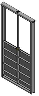 Van cửa phai kích thước BxH: 1400×1400 mm