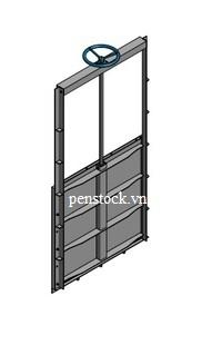Van cửa phai lắp trên tường kích thước WxH: 1000×1000 mm