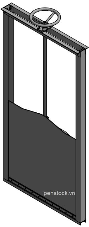 VAN CỬA PHAI TRÊN KÊNH, KÍCH THƯỚC WxH: 1000×1000 mm4