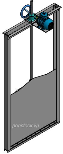 VAN CỬA PHAI, ĐIỀU KHIỂN ĐIỆN, KÍCH THƯỚC WxH: 1000×1000 mm5