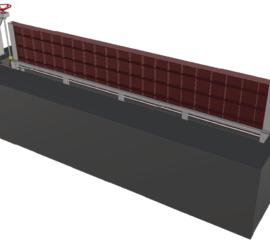 Cửa chống ngập dùng máy nâng hạ Model PEN_MNH